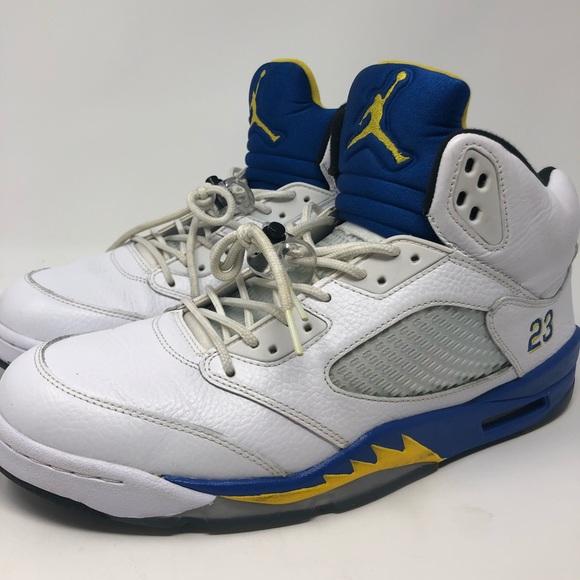 new products 51c8d 83ff6 Air Jordan Retro 5 Laney 2013 Men Basketball Shoes